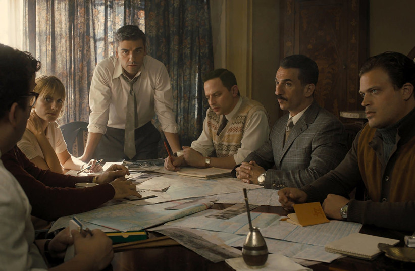 A scene from 'Operation Finale' of the Mossad operation to hunt down and capture Holocaust mastermind Adolf Eichmann (photo credit: VALERIA FLORINI/MGM)