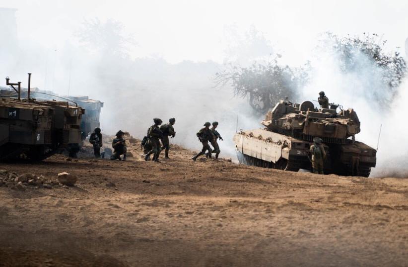 IDF soldiers of the Golani Brigade train for scenarios involving enemies similar to Hezbollah. (photo credit: IDF SPOKESPERSON'S UNIT)