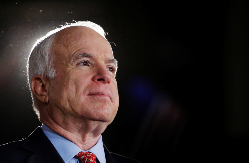 US Republican Senator John McCain (photo credit: REUTERS/BRIAN SNYDER)