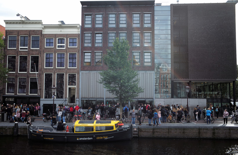 A view of Anne Frank House in Amsterdam, Netherlands October 4, 2017. (photo credit: REUTERS/CRIS TOALA OLIVARES)