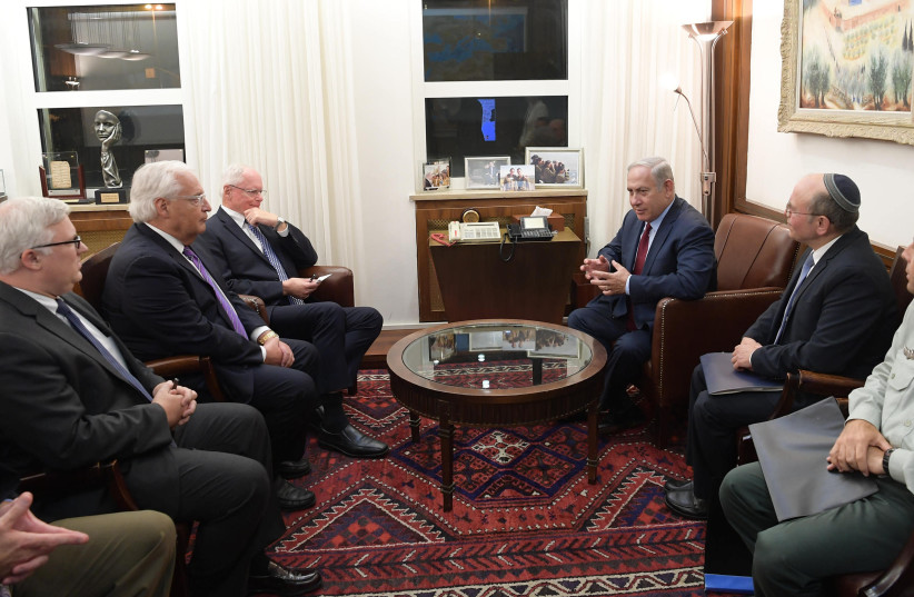 PM Netanyahu Meets with US Special Representative for Syrian Affairs James Jeffrey (photo credit: AMOS BEN GERSHOM, GPO)