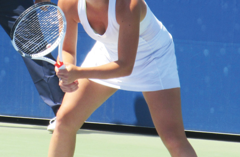 After taking six years off of the professional tour, Jewish-American tennis player Gail Brodsky, 27, mounted a comeback this year at the US Open, where she first  competed as a 17-year-old in 2008 (photo credit: HOWARD BLAS)