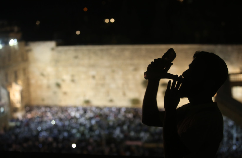 Slihot at Western Wall, September 4, 2018 (photo credit: MARC ISRAEL SELLEM)