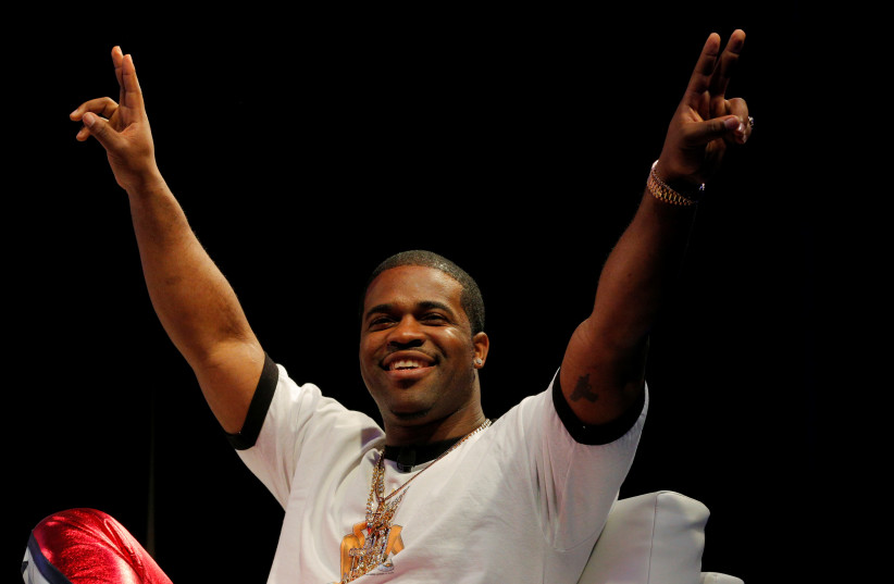 Rapper ASAP Ferg acknowledges the crowd as he is introduced for a panel discussion at the South by Southwest (SXSW) Music Film Interactive Festival 2017 in Austin, Texas, U.S., March 15, 2017 (photo credit: BRIAN SNYDER / REUTERS)