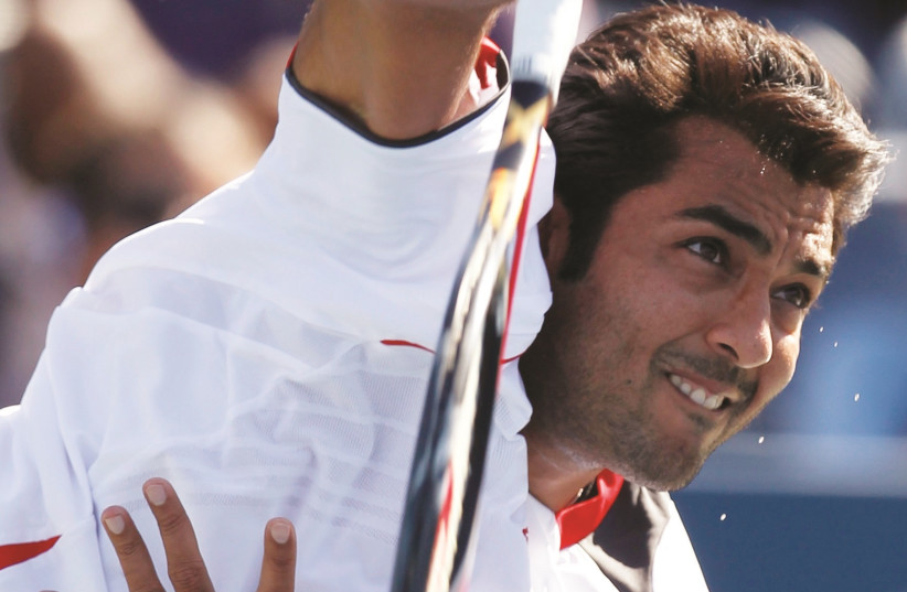 Aisam-Ul-Haq Qureshi has used his platform as a professional tennis player to improve relations between people of various cultures and religions, regularly teaming up with Israelis and others in doubles tournaments (photo credit: REUTERS)