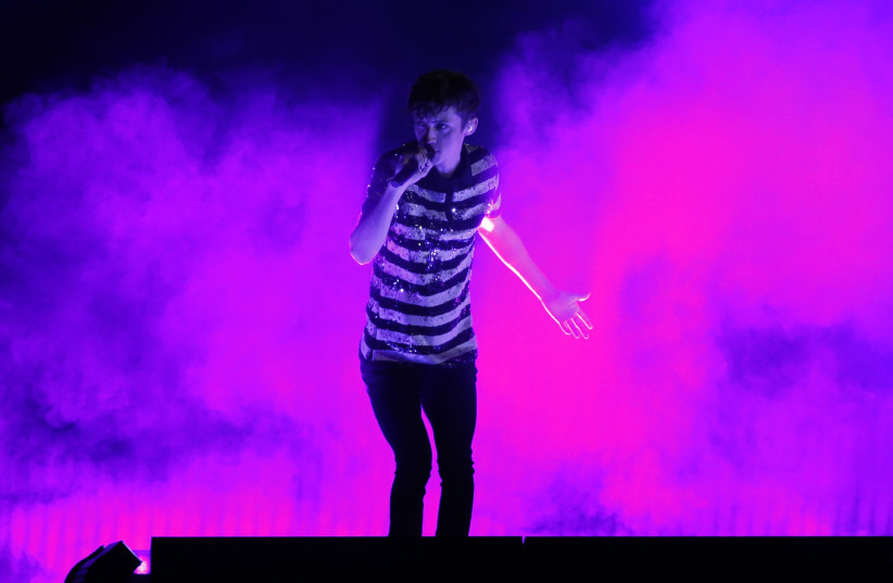 """Troye Sivan performs """"Youth"""" at the 2016 Billboard Awards in Las Vegas, Nevada, U.S., May 22, 2016. (photo credit: MARIO ANZUONI/REUTERS)"""