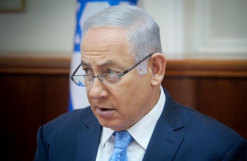 Benjamin Netanyahu at a Cabinet meeting (photo credit: MARC ISRAEL SELLEM)