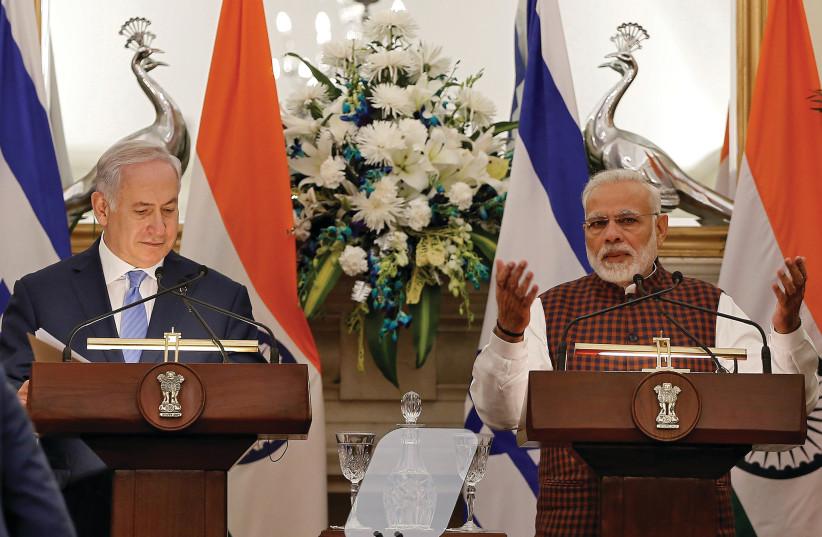 INDIA'S PRIME Minister Narendra Modi and Prime Minister Benjamin Netanyahu. (photo credit: REUTERS)