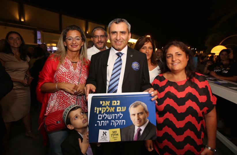 Jerusalem mayoral candidate Zeev Elkin, September 16, 2018 (photo credit: MARC ISRAEL SELLEM/THE JERUSALEM POST)