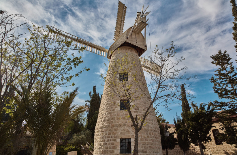 THE MONTEFIORE Windmill, today the official tasting room of Jerusalem Vineyard Winery (photo credit: Courtesy)