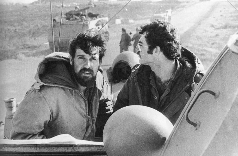 Battalion commander Ami Morag (left) leading his tanks in Sinai in the Yom Kippur War (photo credit: Courtesy)