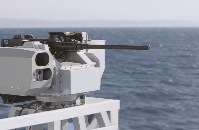 Remote-controlled naval weapon stations designed by Elbit, September 20, 2018 (photo credit: ELBIT)