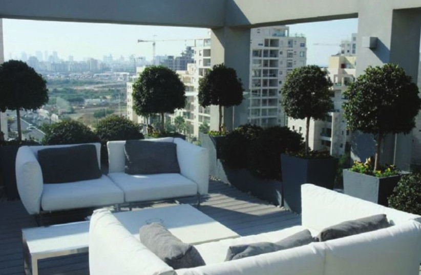 A rooftop garden (photo credit: YUVAL YAM)
