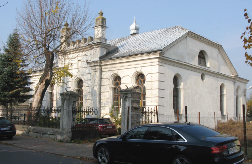 A view of the synagogue in Konin, Poland (photo credit: MONTE JACOBSON)