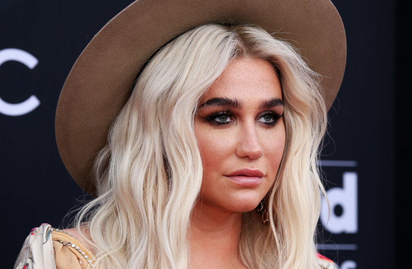 Kesha at the 2018 Billboard Music Awards, Las Vegas, 2018 (photo credit: STEVE MARCUS/REUTERS)