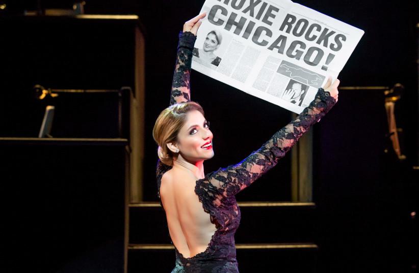 Shiri Maimon in her Broadway debut in 'Chicago,' September 2018 (photo credit: JEREMY DANIEL)