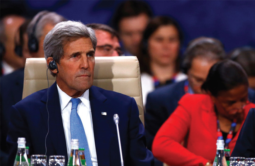 John Kerry attends the NATO Summit in Warsaw on July 8, 2016. (photo credit: REUTERS)