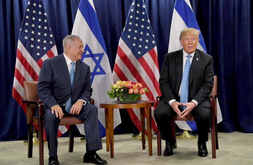 Netanyahu and Trump meeting at UN Security Council (photo credit: GPO PHOTO DEPARTMENT)