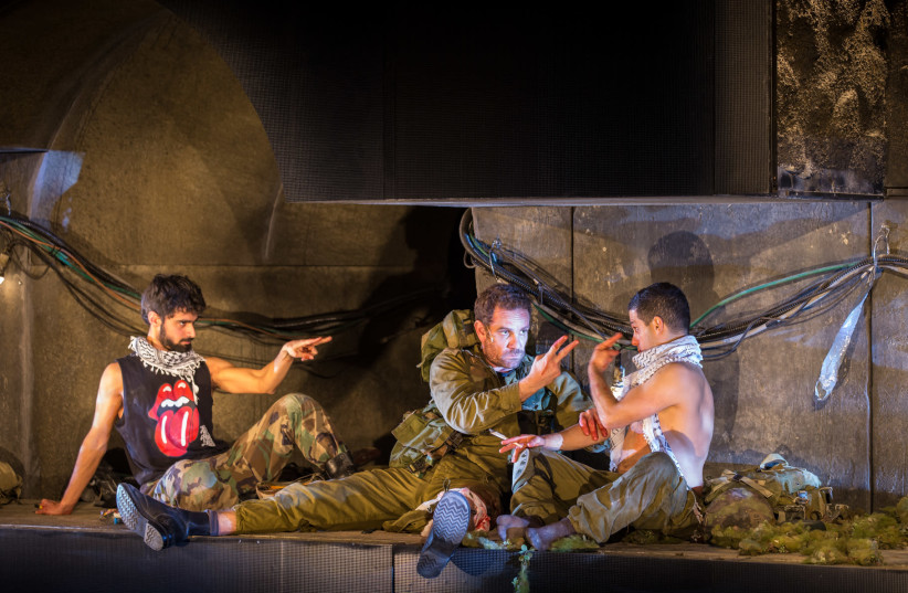 Gesher Theater actors star in a production of 'In the Tunnel,' one of the two plays which are part of the theater's North American tour (photo credit: GESHER THEATER)