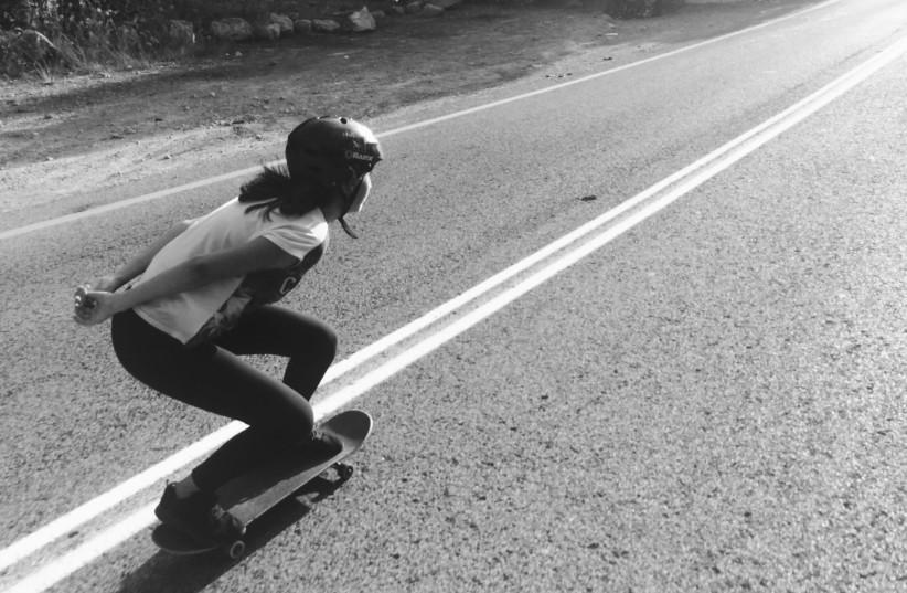 A skateboard pilgrimage to Haifa on Yom Kippur. (photo credit: TAL MIJAELA ROSENZVAIG)
