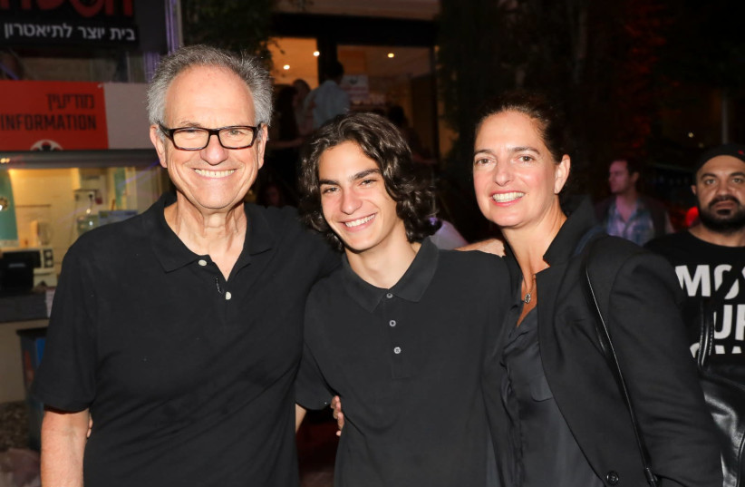 """Iris and Avi Nesher with their son Ari at the opening evening of the film festival in Haifa where Avi Nesher's new film """"Another Story"""" was screened (photo credit: RAFI DALOIA)"""