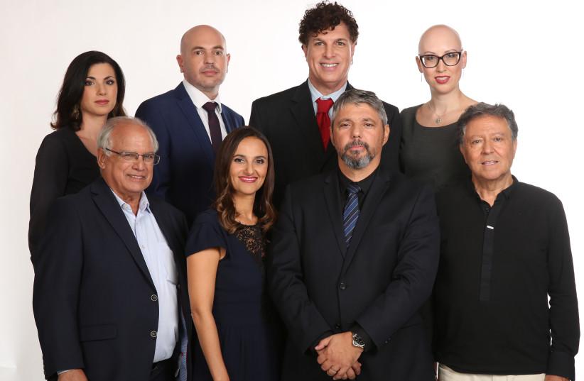 Olim Beyahad members   Bottom row left to right: Gerard Pomper, Sendy Ben-Hamo, Oliver Rafovitz,  Jack Amoyal Top row left to right Vika Kanar, Boris Shindler, LiAmi Lawrence , Marina Soyfer (photo credit: EDWARD STERN)
