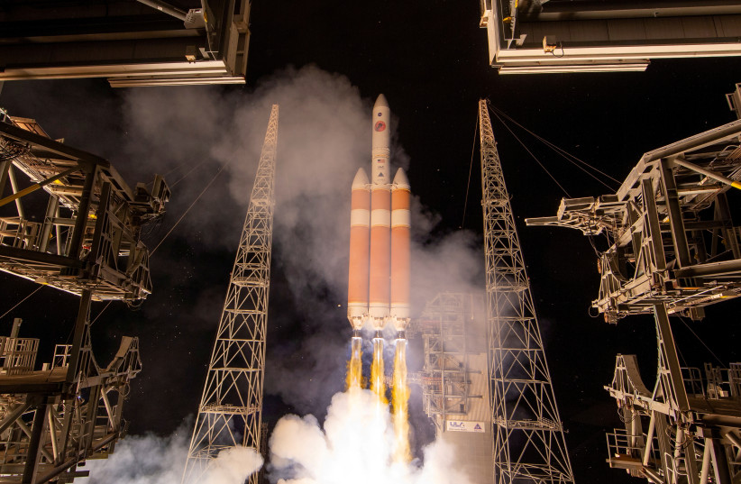 The United Launch Alliance Delta IV Heavy rocket launches NASA's Parker Solar Probe to the Sun at Cape Canaveral, Florida, U.S. August 12, 2018. (photo credit: NASA/BILL INGALLS)