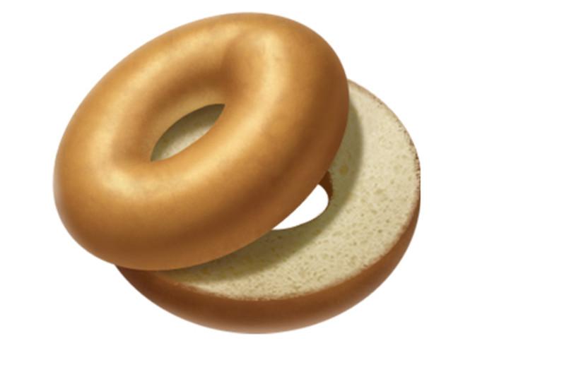 Apple's bagel emoji (photo credit: APPLE)