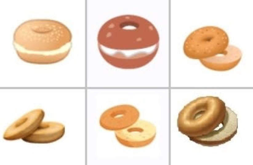 Array of bagel emojis (photo credit: UNICODE CONSORTIUM)