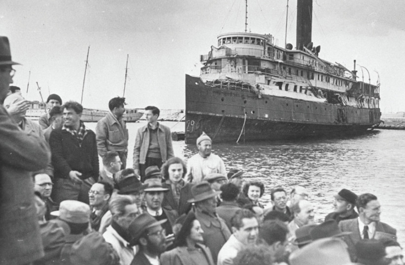 JEWS IMMIGRATE to the Land of Israel, 1947. Today there are some 400,000 Israeli citizens who came from the former Soviet Union and are not recognized as Jews. (photo credit: Wikimedia Commons)