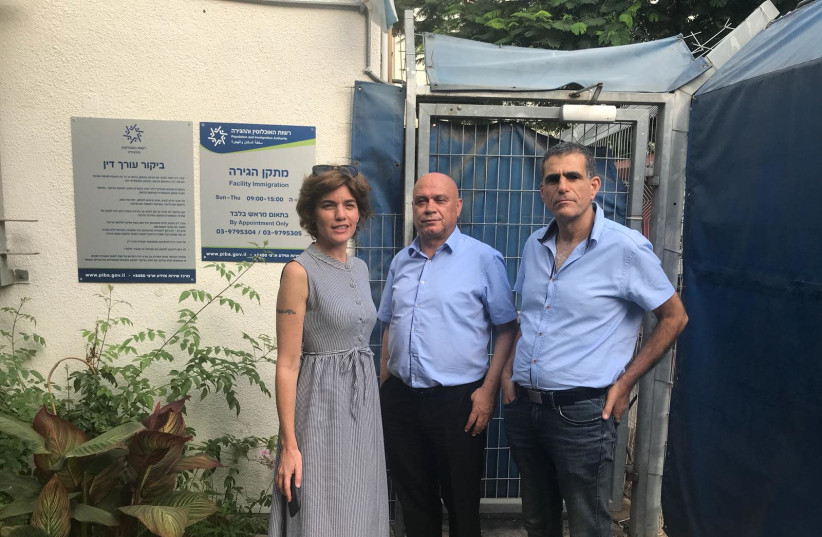 Meretz Mks awaiting entry into Ben Gurion Airport prison facility (photo credit: MERETZ)
