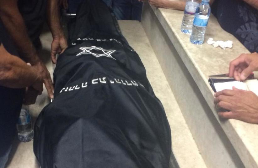 Funeral of terror attack victim Kim Levengrond-Yehezkel at Barkan Industrial Park in Samaria on October 7, 2018. (photo credit: TOVAH LAZAROFF)