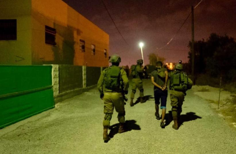 IDF forces searching for the Barkan terrorist  (photo credit: IDF SPOKESMAN'S UNIT)