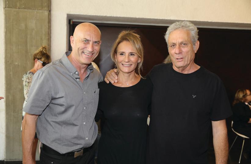Moshe Sinai, Irina Shalmor and Yehuda Eder (photo credit: ITZIK BIRAN)