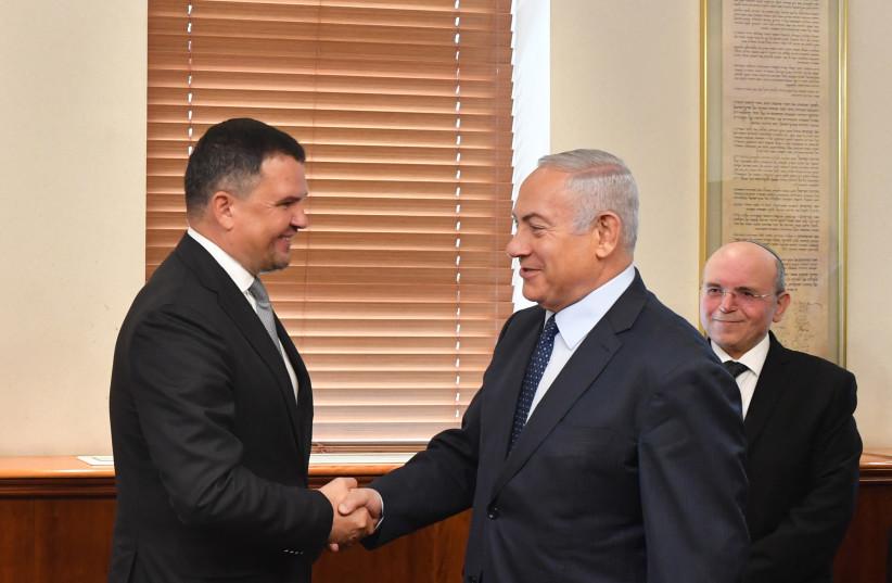 Prime Minister Benjamin Netanyahu [R] meets Deputy Prime Minister of Russia [L] (photo credit: KOBI GIDON / GPO)