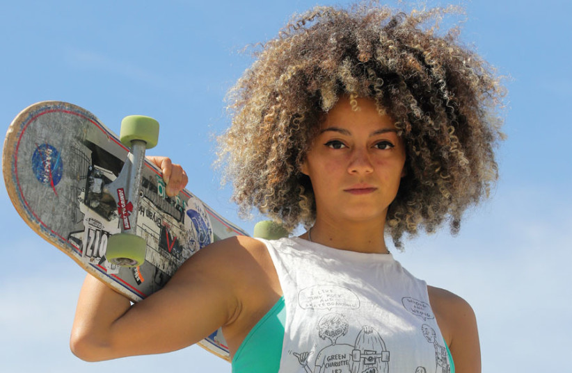 Paola Ruiloba, co-founder of the Jerusalem Skater Girls. (photo credit: MARC ISRAEL SELLEM)