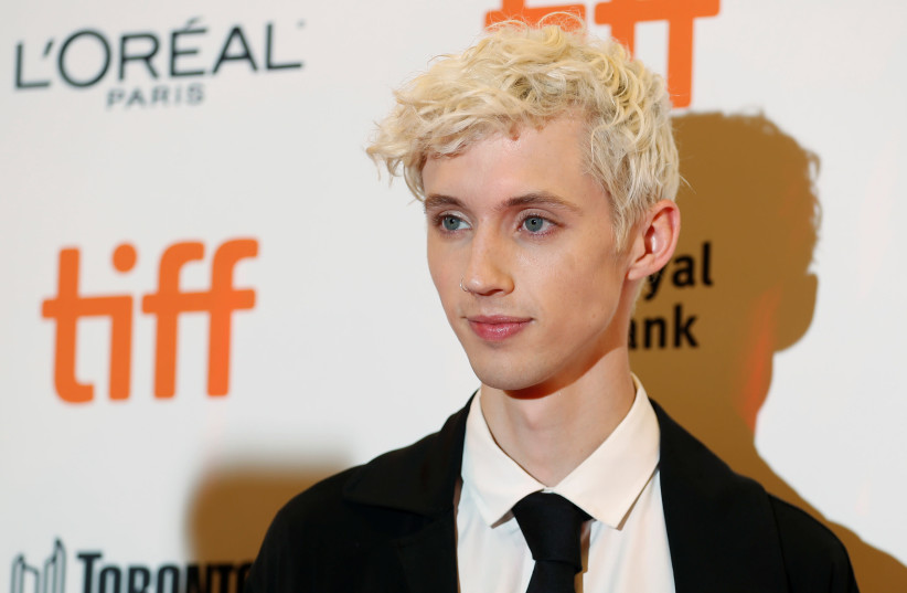 """Actor Troye Sivan arrives for the premiere of the movie """"Boy Erased"""" at the Toronto International Film Festival (TIFF) in Toronto, Ontario, Canada September 11, 2018. (photo credit: REUTERS/MARIO ANZUONI)"""