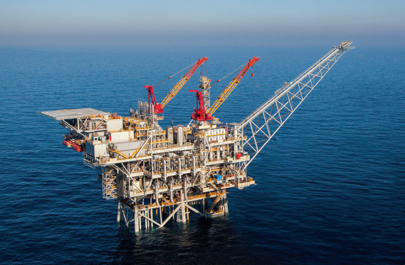 THE PLATFORM for Noble's Tamar natural gas pipeline, situated some 23 km. off Ashkelon's southern coast. (photo credit: COURTESY OF NOBLE ENERGY)