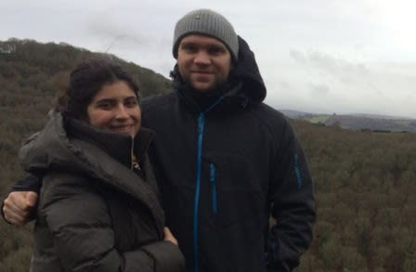 Research student on hiking trip with his young wife (photo credit: DETAINED IN DUBAI)