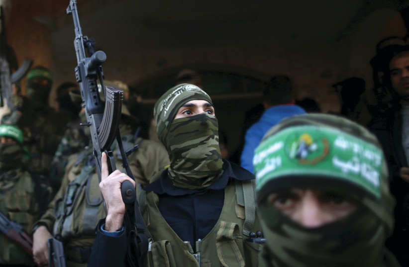 Hamas members (photo credit: REUTERS)