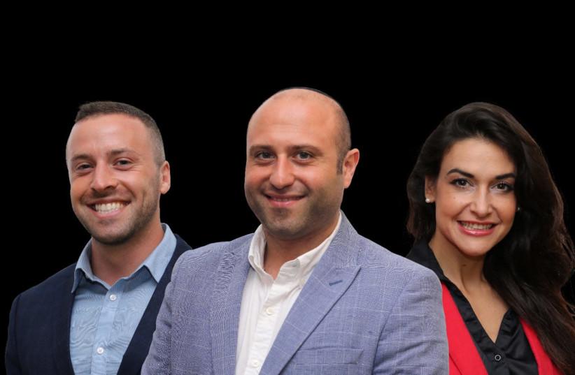 From left to right: Chaim Silber, Gaby Daniel and Marina Smolyanov (photo credit: SIMCHA BITAN)