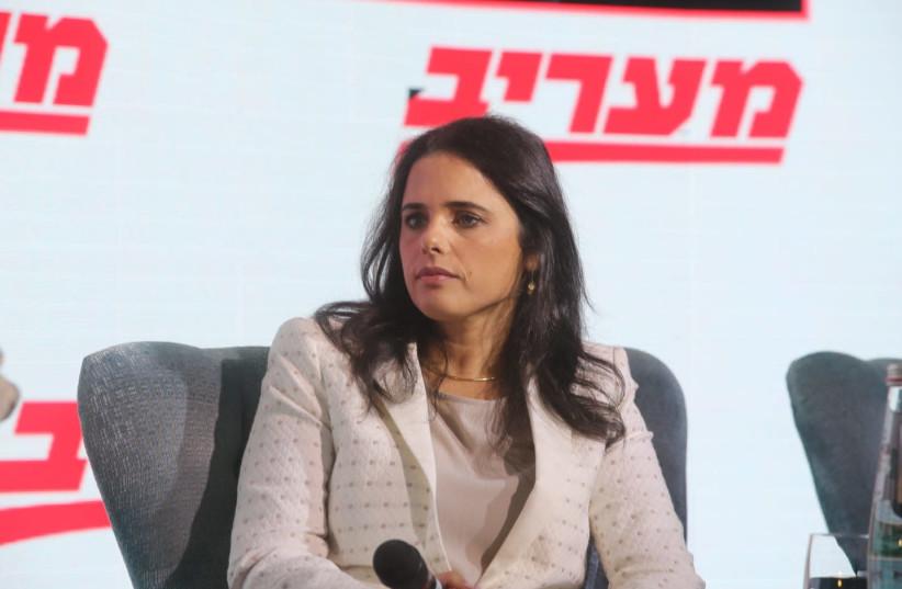 Ayelet Shaked at the Maariv Leaders Conference (photo credit: MARC ISRAEL SELLEM)