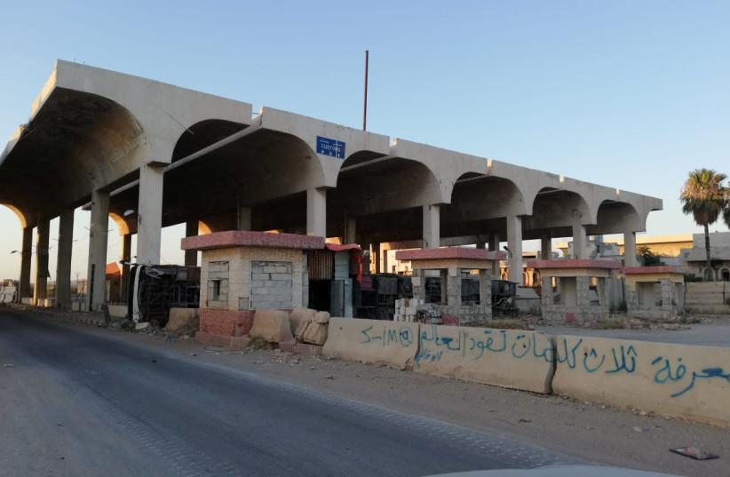 Nassib border crossing (photo credit: HEZBOLLAH MEDIA/HANDOUT VIA REUTERS)