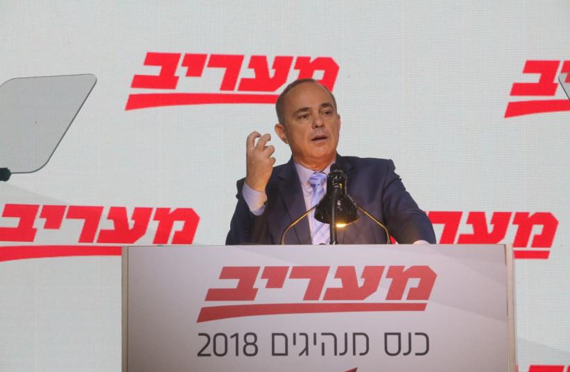 Energy Minister Yuval Steinitz at the Maariv Leaders Conference (photo credit: SIVAN FARAG)