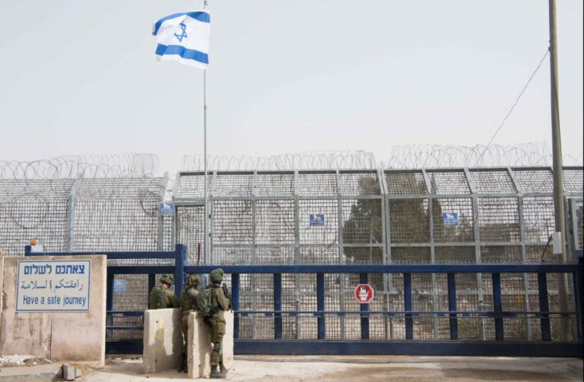 Crossing between Israel and Syria opened exclusively to UNDOF troops (photo credit: IDF SPOKESPERSON'S OFFICE)
