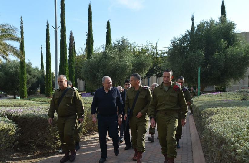 Defense Minister Avigdor Liberman  (photo credit: ARIEL HERMONI / DEFENSE MINISTRY)