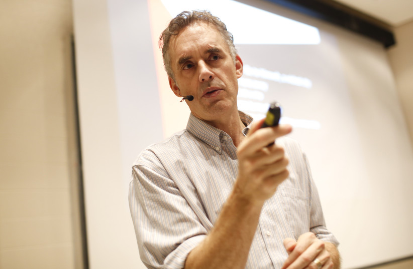 Psychologist and author Jordan Peterson during a lecture on January 10, 2017 in Toronto, Canada. (photo credit: RENE JOHNSTON/TORONTO STAR/ZUMA PRESS/TNS)