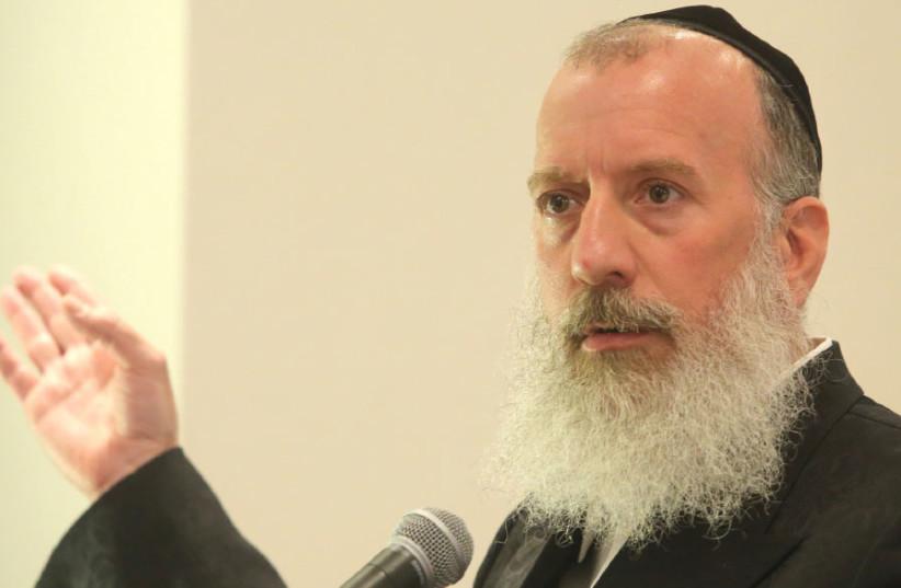 ... haredi mayoral candidate Yossi Daitch.  (photo credit: MARC ISRAEL SELLEM)