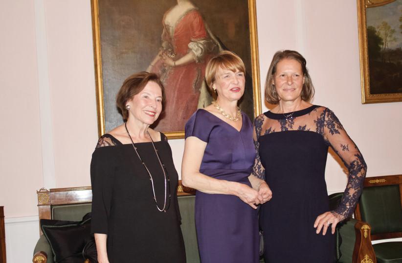German First Lady Elke Budenbender, with two former first ladies Christina Rau and Eva Luise Kohler (photo credit: COURTESY - SHEBA MEDICAL CENTER)