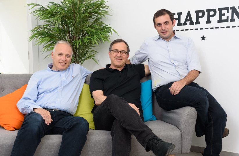 Co-founders of WhiteSource: (L-R) Ron Rymon, Azi Cohen and Rami Sass (photo credit: DAVID GARB PHOTOGRAPHY)